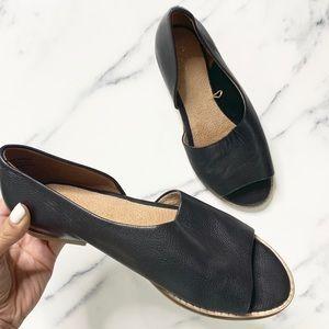 Anthropologie Seychelles Black Cut Out Sandals